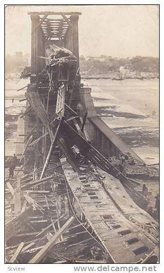 RP; Saskatoon , Saskatchewan, Canada , 1912 ; Railway Bridge Collapse 3/4 Item number: 178600611  on Delcampe.com