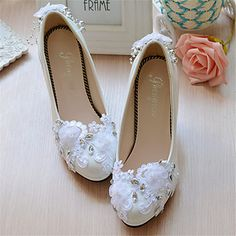 Women's+Wedding+Shoes+Heels+Heels+Wedding+White+–+USD+$+35.99