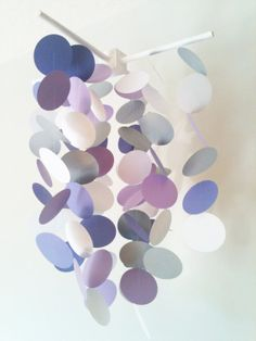 Purple Baby Mobile for Crib. Nursery Decoration for Baby Girl Nursery Decor, Circle Mobile, Modern Crib Mobile, Modern Nursery Decor via Etsy