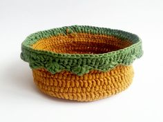 Handmade Crochet Basket   halloween sweets by MKedraHandmade, $13.00