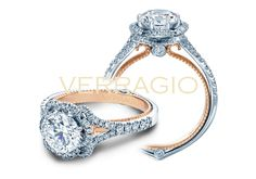 Verragio #210-10155 - ENGAGEMENT RING FROM THE COUTURE COLLECTION, FEATURING 0.40CT. OF ROUND BRILLIANT DIAMONDS TO ENHANCE A ROUND DIAMOND CENTER AND A ROSE GOLD PROFILE. AVAILABLE IN GOLD AND PLATINUM. FOR MORE INFORMATION AND/OR AVAILABILITY, PLEASE CONTACT STADLER'S JEWELRY