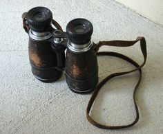 Vintage Airguide 5x40 Achromatic Binoculars - Made in Chicago, USA. $35.00, via Etsy.