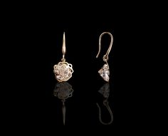 Sparkling Rose Floral Drop Earrings - $30 http://www.muwae.com/shop/sparkling-rose-floral-drop-earrings