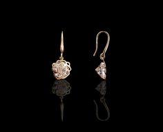Sparkling Rose Floral Drop Earrings - $30 http://www.muwae.com/shop/sparkling-rose-floral-drop-earrings