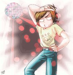 Pewdiepie disco- ain't no party like a pewdiepie party! Cuz da pewdiepie party don't stop! Pewdiepie Fan Art, Pewdiepie And Cry, Pewdiepie Funny, Felix Pewdiepie, Cryaotic, Youtube Gamer, Meme Center, Smosh, Markiplier