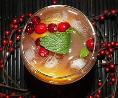 Festive Wintery Cocktails - Cran-Orange Sangria  - from InStyle.com