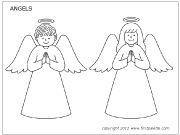 Angel coloring page Set 1