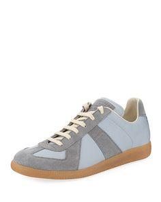 dab98213a75290 MAISON MARGIELA MEN S REPLICA SUEDE   LEATHER LOW-TOP SNEAKER.   maisonmargiela  shoes