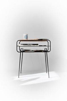 Iron & wood series Double Nightstand  by Manuel Barrera