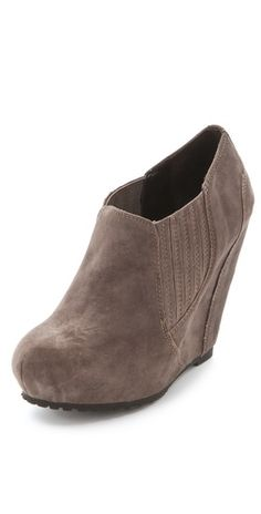 Luxury Rebel Shoes | Took me awhile but I've really warmed up to wedge booties.