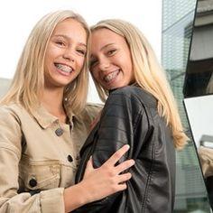 Instagram star twins Lisa and Lena pose in Stuttgart