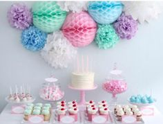 Birthday Candy Buffethttp www. Birthday Candy, Girl Birthday, Birthday Parties, Pastell Party, Festa Party, Colorful Party, Candy Buffet, Unicorn Party, Candy Colors