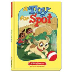 """A Toy for Spot - Hardcover book from ABCmouse.com. 4 years & up, 28 pages.  Dot and Scot play a game of """"Cold and Hot"""" with their spunky dog in A Toy for Spot. This book from ABCmouse.com presents a rhyming story created by early childhood literacy experts to help children develop fundamental reading skills. Reading A Toy for Spot will help children learn to recognize simple words in the –ot word family as well as several important sight words, such as look, are, and they."""