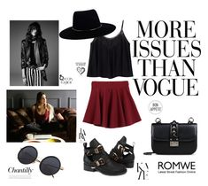 """""""Romwe"""" by jelena-si ❤ liked on Polyvore featuring LARA, Wassup, Zimmermann, Valentino, Yves Saint Laurent and romwe"""