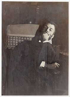 Daniel Halévy, photo of Edgar Degas, 1895. Degas (19 July 1834–27 Sept 1917), French artist famous for his paintings, sculptures, prints, and drawings. He is especially identified with the subject of dance; more than half of his works depict dancers. He is regarded as one of the founders of Impressionism, although he rejected the term, and preferred to be called a realist. His portraits are notable for their psychological complexity and for their portrayal of human isolation.