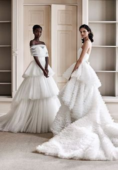 Tulle Wedding Gown, Couture Wedding Gowns, Tulle Ball Gown, Tulle Dress, Ball Dresses, Bridal Dresses, Ball Gowns, Bridesmaid Dresses, Tiered Wedding Dresses