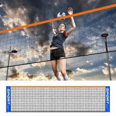 Games Net Portable Badminton Net Easy Setup durable nylon polyester Volleyball Net #iphonexrwhitewithblackcase Badminton Racket Grip, Tennis Racket, Volleyball Net, Racquet Sports, Bouldering, Games, Easy, Training