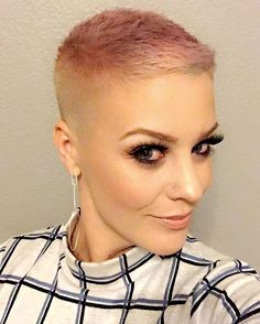 I popped into a barber shop today to get a legit bald fade! Then I accidentally toned it this blush tone, but I really like it!