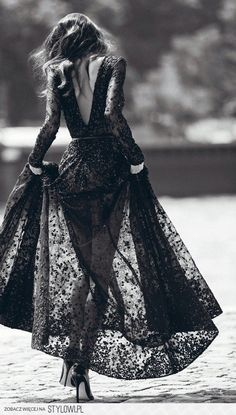 She's always a vision in black lace.