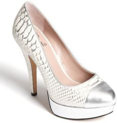 Definitely want these! I love silver shoes! #shoes #highheels #pumps #leather #stilettos #silver