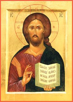"""Christ Pantokrator. 2003. Wood, gesso, tempera, gilding. 7,68""""x 5,9"""". Private collection (Russia)."""