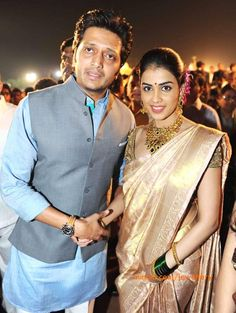 Genelia and Riteish Deshmukh at a Grand Evening Reception in Pune