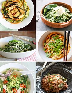 11 Recipes Using Spiralized Vegetable Noodles — no those aren't noodles, they're veggies!