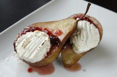 Roasted Pear Dessert plus other fall dessert recipes