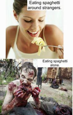 Food Humor: Spaghetti Fest.