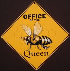 BEE crossing Sign office decor queen apiary honey home signs painting picture I Love Bees, Birds And The Bees, Bee Quotes, Bee Facts, Buzz Bee, Bee Skep, Bee Design, Bee Theme, Save The Bees