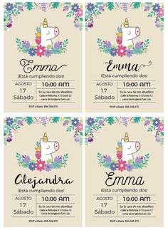 Invitación Unicornio para imprimir en www.cumplekits.com | invitaciones | Pinterest | Fiestas