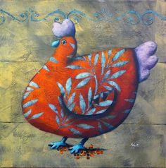 Artodyssey: Pascal Merlet I do love a fat chicken!!