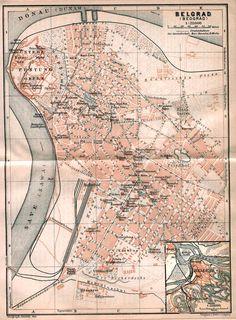 Map of Belgrade (Beograd) 1905