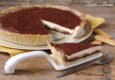 crostata tiramisù Nutella, Biscuits, Cafe Food, Bon Appetit, Cheesecake, Food Porn, Food And Drink, Sweets, Cooking