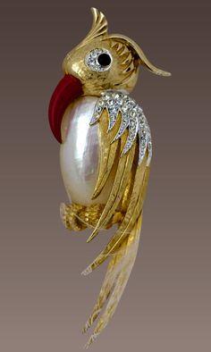 Beautiful Boucher Figural Brooch