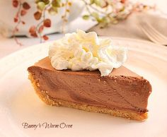 Chocolate Bavarian Pie This pie is cool, smooth and luscious. But that's what happens when you mix cream with chocolate. Great Memorial Day Dessert!
