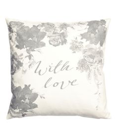 Check this out! CONSCIOUS. Cushion cover in organic cotton fabric with a printed motif. Concealed zip. Size 20 x 20 in. - Visit hm.com to see more.