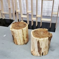 Stools for a roadshow are finished. They are made from trees directly out of the forest! Interior Architecture, Interior Design, Carpenter, Stools, Trees, Concept, Rustic, Table, Nature