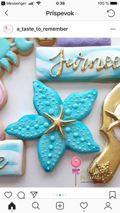 Summer Cookies, Fun Cookies, Cupcake Cookies, Decorated Cookies, Iced Sugar Cookies, Sugar Cookie Frosting, Seashell Cookies, Mermaid Cupcakes, Nautical Cake