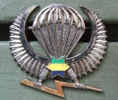 Gabon (Gabonese Republic) Army Parachute Wings the wings are in very good condition and made by DRAGO PARIS. The wings are