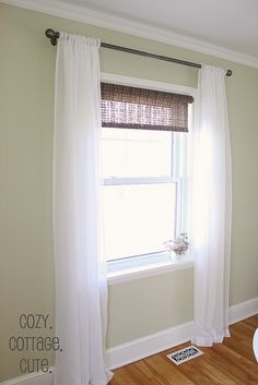 Sheer blinds above the back door