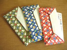 Origami card holders