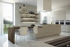 If you want some modern dining rooms design ideas, you can consider reading this article. This article will provide you some modern dining rooms design White Dining Chairs, Wooden Dining Tables, Küchen Design, House Design, Design Ideas, Kitchen Island With Sink, Dining Room Design, Dining Rooms, Cuisines Design