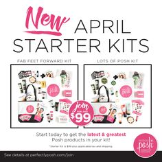 Choose your starter kit and get some exclusive goodies when you join the Posh life!