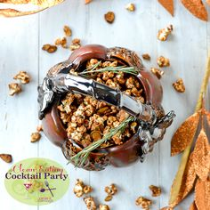 awe sweet, almond popcorn, almonds, rosemari caramel, food, caramels, rosemary popcorn recipes, snack, caramel almond