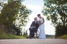 wheelchair wedding photos