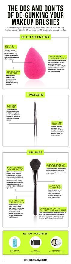 Guide of Makeup Brush Cleaning - 12 Homemade DIY Makeup Brush Cleaners | GleamItUp