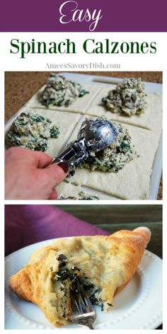 Spinach Calzone Recipe, Cooking Recipes, Calzone Recipe With Pizza Dough, Homemade Calzone, Spinach Bread, Easy Cooking, Pizza Recipes, Fast Easy Meals, Recipes