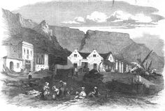 1864 Old Dutch House at Cape Town South Africa antique print The Stock Photo, Royalty Free Image: 122606747 - Alamy Engraving Printing, Dutch House, Cape Town South Africa, Old Photos, Vintage Photos, African History, Antique Prints, Royalty Free Images, Stock Photos