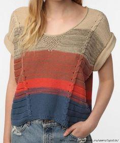 Пуловеры спицами 340